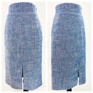 Ann Taylor Blue & White Pencil Skirt Size 2